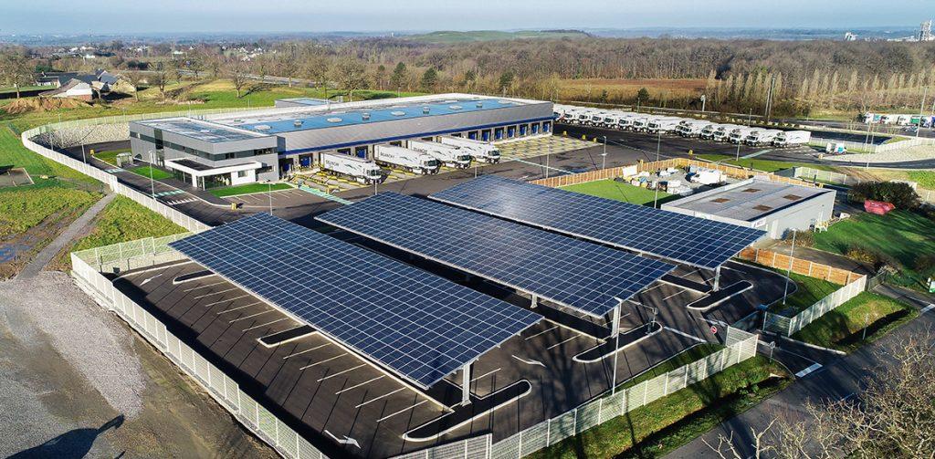 Le parc photovoltaïques de l'agence Delanchy à La Gravelle.